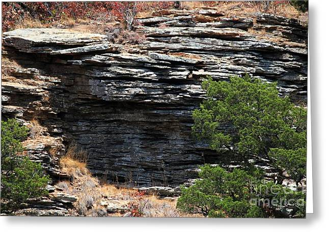 Mt Magazine Greeting Cards - Rocky Layers Greeting Card by Theresa Willingham