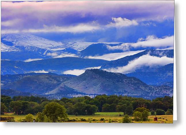 Photography Greeting Cards - Rocky Mountain Cloud Layers Greeting Card by James BO  Insogna