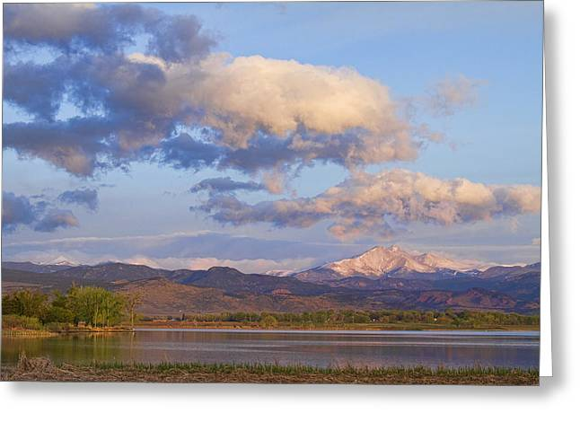 Longmont Greeting Cards - Rocky Mountain Early Morning View Greeting Card by James BO  Insogna