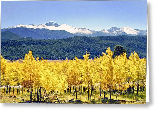 Rocky Mountains Greeting Cards Greeting Cards - Rocky Mountain Park Colorado Greeting Card by James Steele