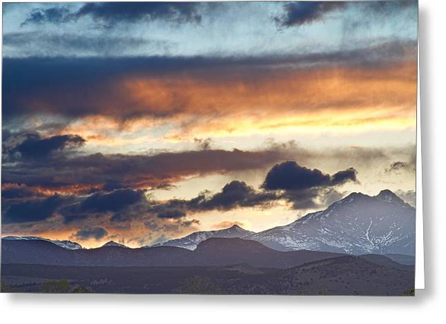 Colorado Artwork Greeting Cards - Rocky Mountain Springtime Sunset 2 Greeting Card by James BO  Insogna