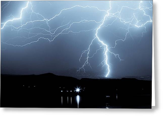 Rocky Mountain Storm  Greeting Card by James BO  Insogna