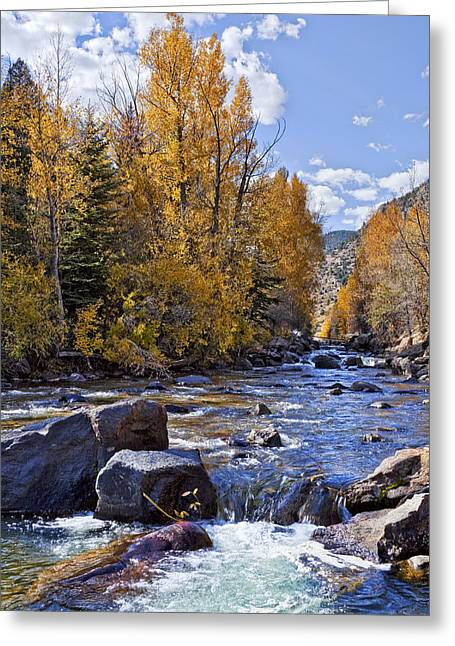Stream Greeting Cards - Rocky Mountain Water Greeting Card by Kelley King