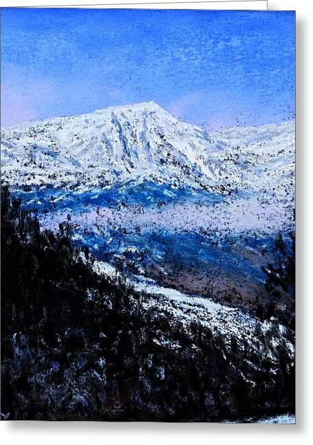 Winter Park Pastels Greeting Cards - Rocky Mountain Winter Vista Greeting Card by Bob Richey