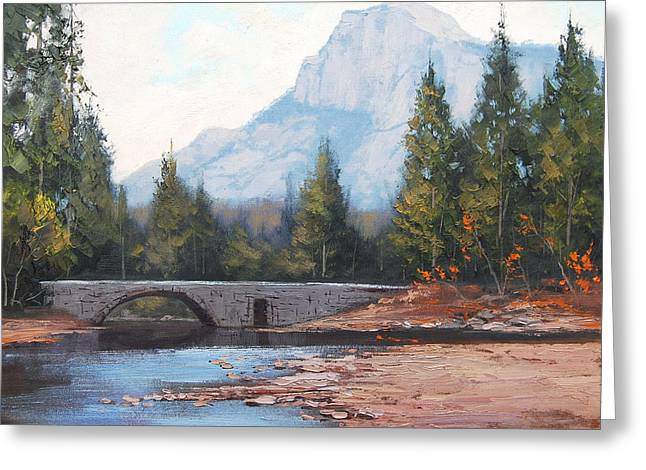 River Paintings Greeting Cards - Rocky Mountains Greeting Card by Graham Gercken