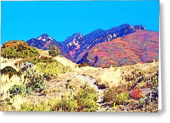 Susan Leggett Digital Greeting Cards - Rocky Mountains in Autumn Greeting Card by Susan Leggett