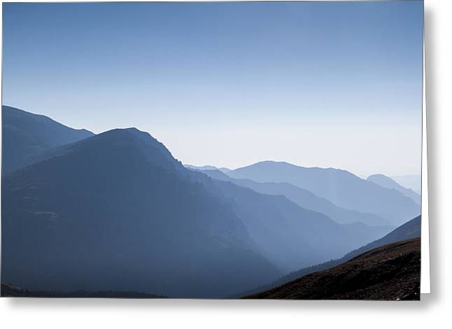 Streams Greeting Cards - Rocky mountains in morning mist Greeting Card by Ellie Teramoto