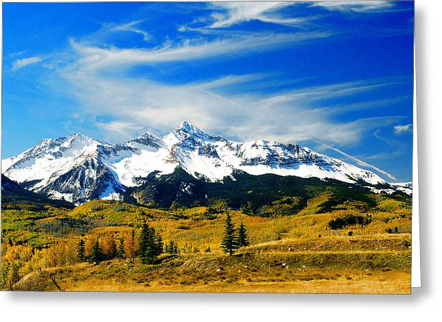 Rocky Mt. High Greeting Card by Frank Houck
