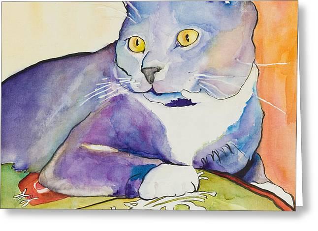 Pat Saunders-white Paintings Greeting Cards - Rocky Greeting Card by Pat Saunders-White