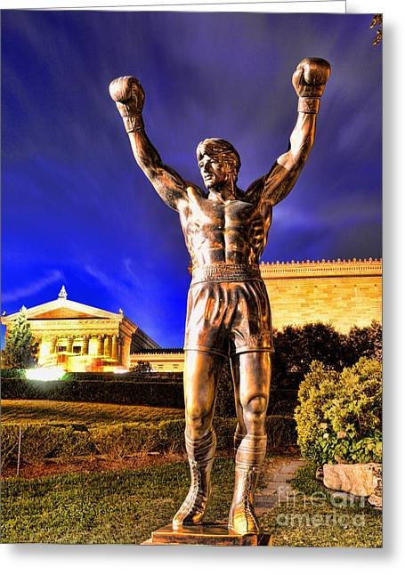 Stallone Greeting Cards - Rocky Greeting Card by Paul Ward