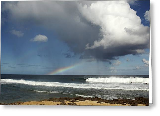 Vince Greeting Cards - Rocky Point, rain and rainbow Greeting Card by Vince Cavataio - Printscapes