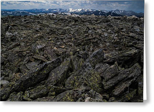 Mountain Road Greeting Cards - Rocky Road Greeting Card by Robert Nowak
