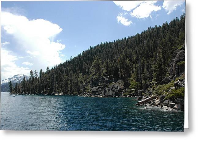 Vacation Greeting Cards - Rocky Shore Lake Tahoe Greeting Card by LeeAnn McLaneGoetz McLaneGoetzStudioLLCcom