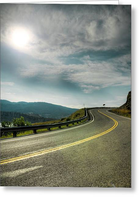 Rocky's Spillway Greeting Card by Ray Devlin