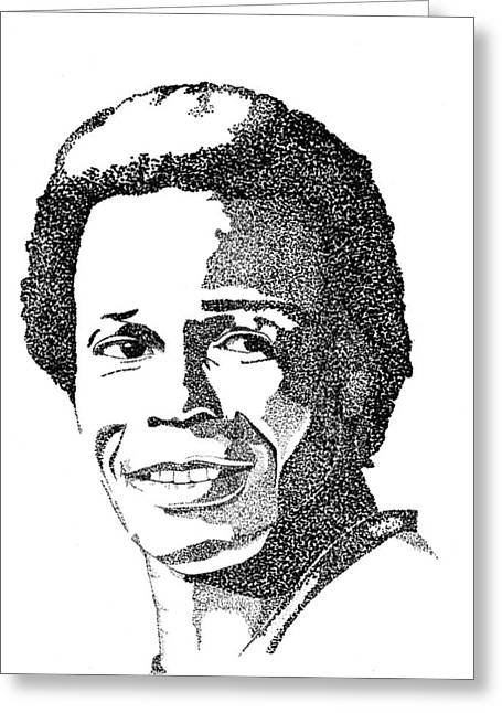 Rod Carew Sports Portrait Greeting Card by Marty Rice