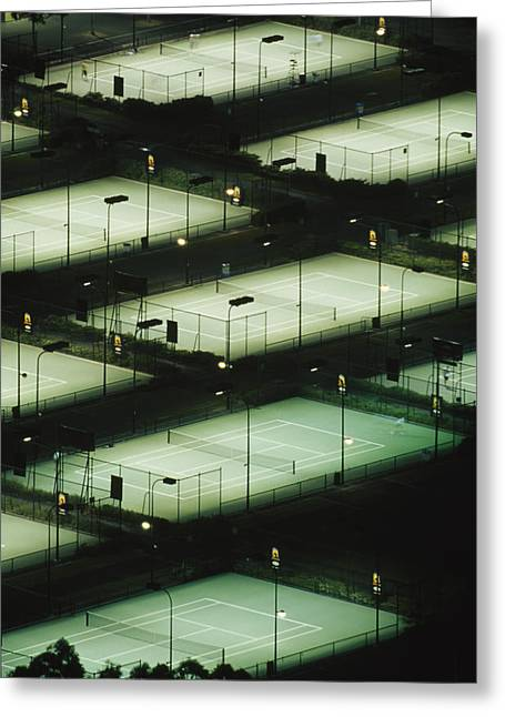 Lavers Greeting Cards - Rod Laver Arena Tennis Complex Greeting Card by Jason Edwards