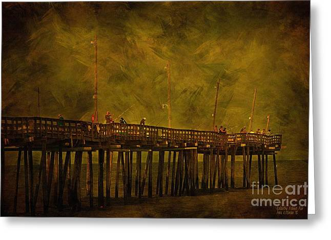 North Sea Greeting Cards - Rodanthe Fishing Pier At Sundown Greeting Card by Anne Kitzman
