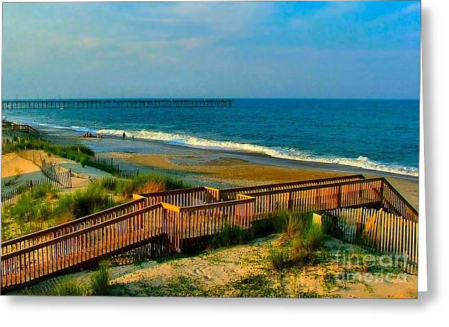 Julie Dant Greeting Cards - Rodanthe on the Outer Banks Greeting Card by Julie Dant