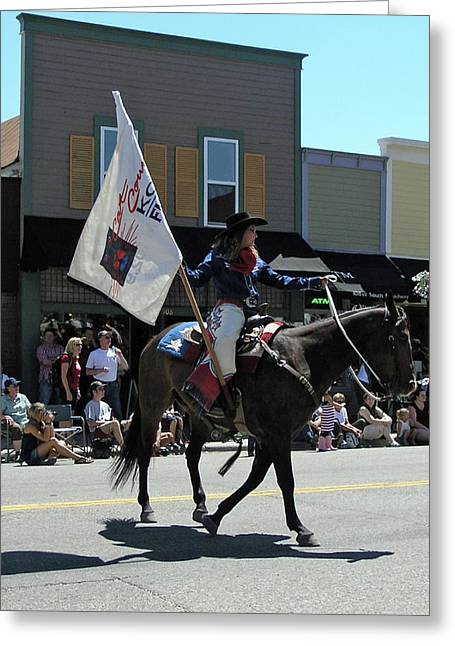 4th Of July Parade Greeting Cards - Rodeo Chamption Greeting Card by Janis Shortridge