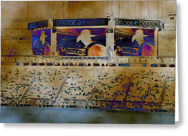 Rodeo Houston Greeting Card by Connie Fox