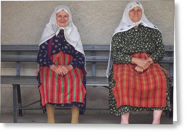 Rodopean women Greeting Card by Antoaneta Melnikova- Hillman
