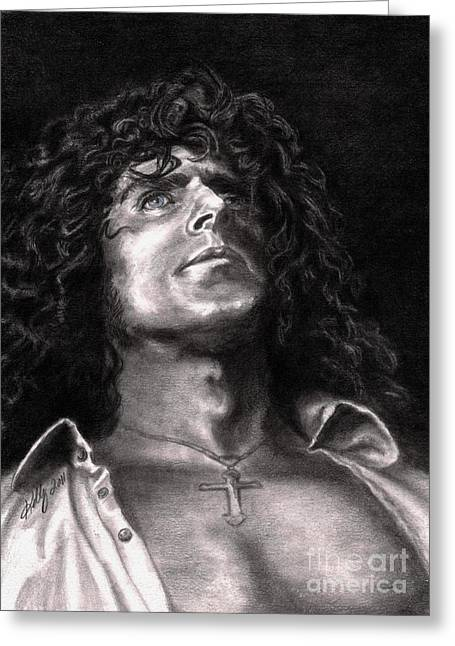 Male Singer Greeting Cards - Roger Daltry Greeting Card by Kathleen Kelly Thompson