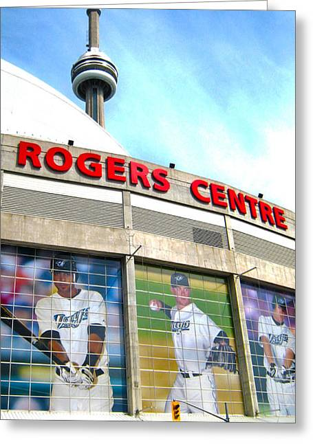 Ontario Sports Art Greeting Cards - Rogers Greeting Card by Infinitimage Canada