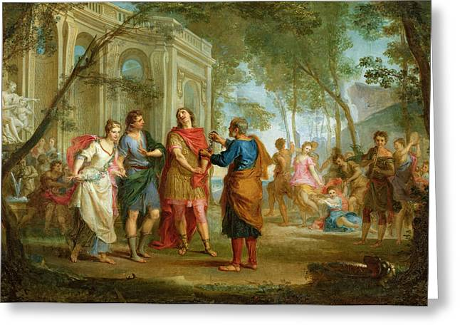 Roland Learns of the Love of Angelica and Medoro  Greeting Card by Louis Galloche