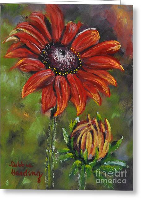 Close Up Floral Pastels Greeting Cards - Role Model Greeting Card by Debbie Harding