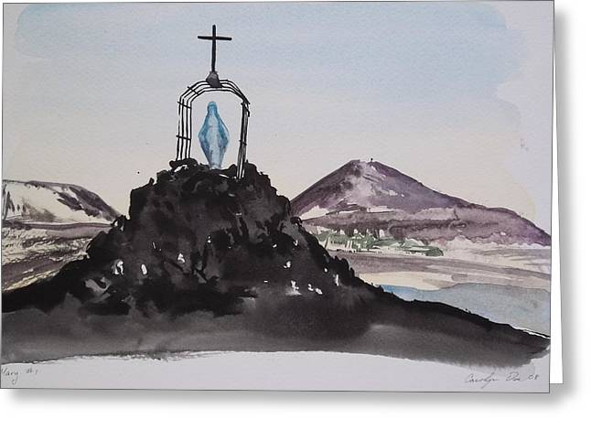 Roll Cage Mary Of Antarctica Greeting Card by Carolyn Doe