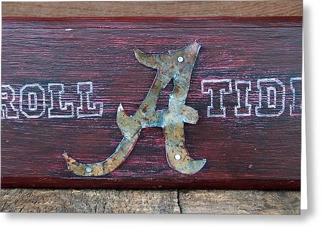 Roll Tide - Medium Greeting Card by Racquel Morgan
