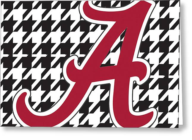 Crimson Tide Digital Art Greeting Cards - Roll Tide Mini Canvas Greeting Card by Greg Sharpe