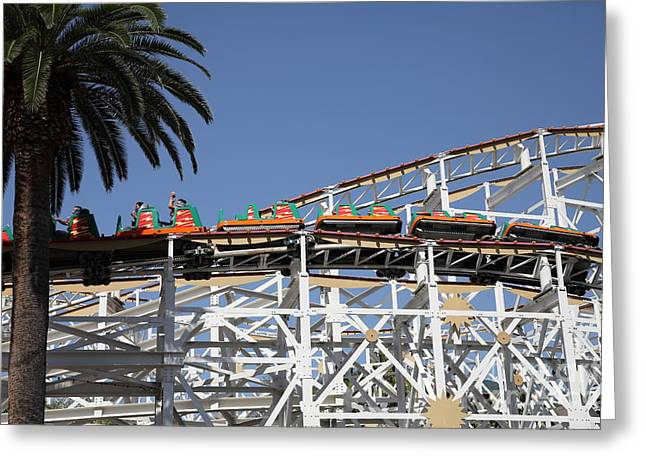Disney California Adventure Park Greeting Cards - Roller Coaster - 5D17608 Greeting Card by Wingsdomain Art and Photography