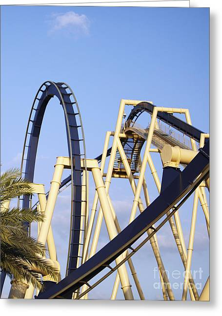 Roller Coaster Track Greeting Card by Skip Nall