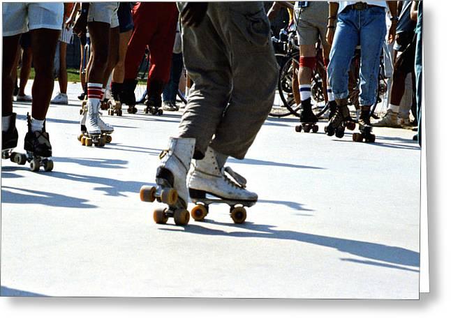 Best Sellers -  - Antique Skates Greeting Cards - Roller skates Greeting Card by Emanuel Tanjala