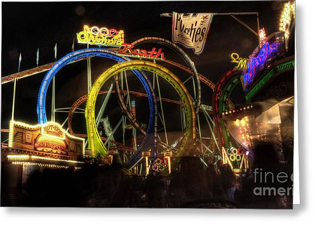 Rollercoaster Photographs Greeting Cards - Rollercoaster at the DOm Greeting Card by Rob Hawkins