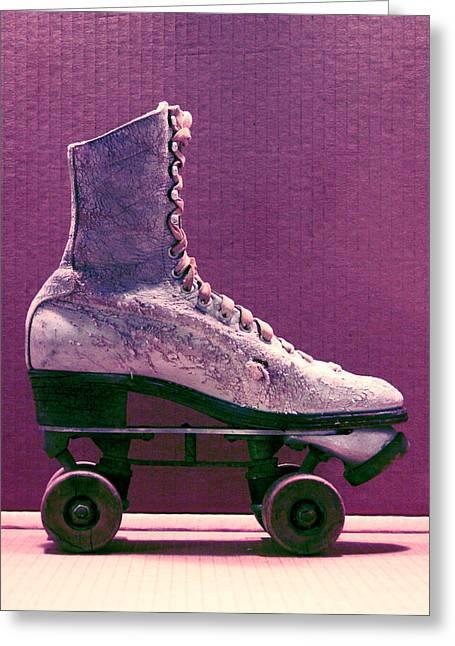 Rollerskate Greeting Cards - Rollerskate Greeting Card by Gabe Arroyo