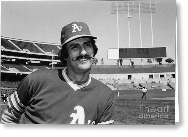 Oakland Athletics Greeting Cards - Rollie Fingers (1946- ) Greeting Card by Granger