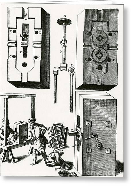 Printmaking Photographs Greeting Cards - Rolling Mill For Lead Strips Greeting Card by Photo Researchers