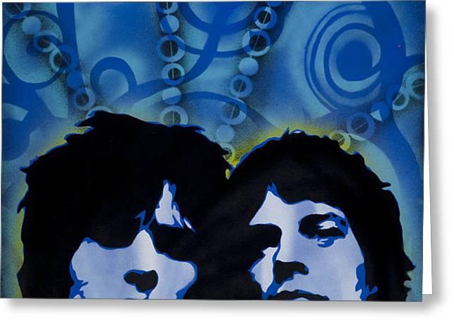 Rolling Stones Greeting Card by Iosua Tai Taeoalii