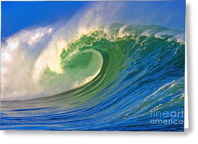 Surf Art Greeting Cards - Rolling Through Greeting Card by Paul Topp