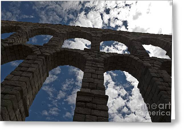 Ancient Ruins Greeting Cards - Roman Aqueduct Segovia Greeting Card by Scotts Scapes