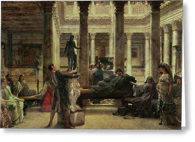 Greek Sculpture Greeting Cards - Roman Art Lover Greeting Card by Sir Lawrence Alma-Tadema
