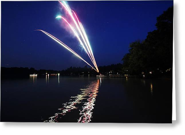 4th July Photographs Greeting Cards - Roman Candle Greeting Card by Ty Helbach