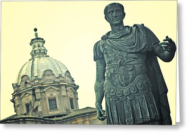 Roman Statue Greeting Cards - Roman Emperor Greeting Card by Joana Kruse