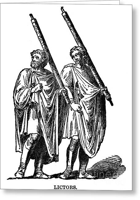 7th Century Greeting Cards - Roman Lictors Greeting Card by Granger