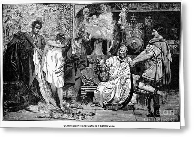 Engraving Greeting Cards - Roman Slave Trade Greeting Card by Granger