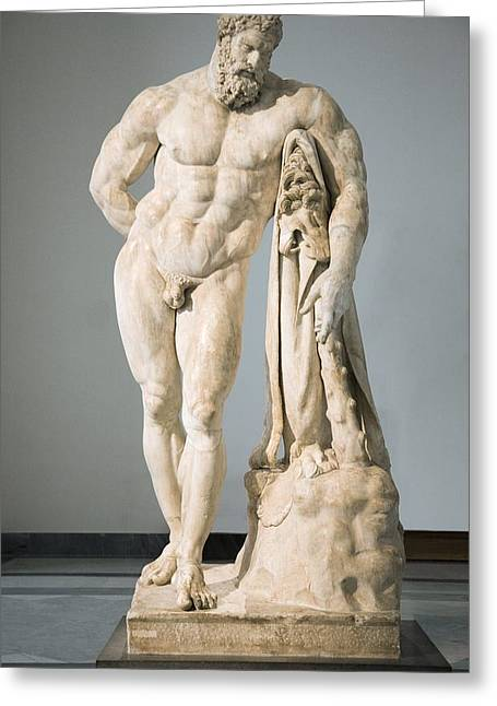 Greek Sculpture Greeting Cards - Roman Statue Of Hercules Greeting Card by Sheila Terry
