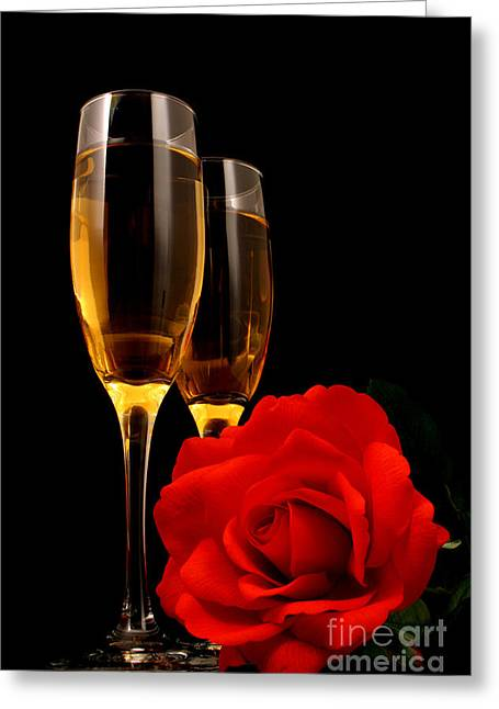 Wine Pour Greeting Cards - Romance Greeting Card by Darren Fisher