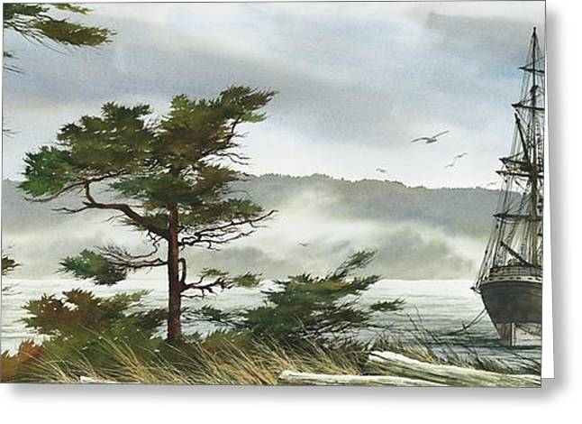 Maritime Print Greeting Cards - Romance of Sailing Greeting Card by James Williamson